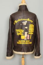 B-3 10th Bombardment Sheepskin Leather Winter Flight Jacket XL/XXL